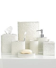 Master Bath - Kassatex Bath Accessories, Damask Trash Can - Bathroom Accessories - Bed & Bath - Macy's