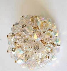 a shimmery and beautiful vintage brooch. $18.00