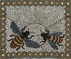 British artist Maggy Howarth's pebble mosaic tribute to bees. Description from pinterest.com. I searched for this on bing.com/images