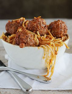 The only way I like to make meatballs now --> Mom's Spaghetti and Meatballs Recipe!