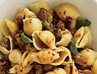 Pasta with Sausage, Basil and Mustard Recipe