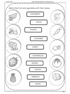 Atividades de Inglês: FRUITS AND VEGETABLES