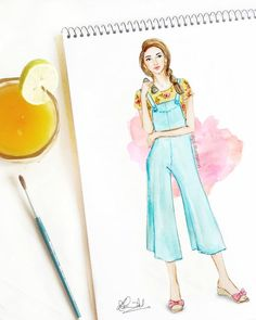 summer crush whats your favorite go to summer beverage fashionillustration - Life ideas Dress Design Drawing, Dress Design Sketches, Fashion Design Sketchbook, Dress Drawing, Fashion Design Drawings, Fashion Sketches, Fashion Drawing Dresses, Fashion Illustration Dresses, Fashion Books