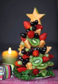 fruits christmas tree