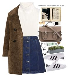 """""""q u i e t"""" by happystranger ❤ liked on Polyvore featuring 1205, Topshop, Sofia Cashmere, The Cambridge Satchel Company, adidas Originals, Crate and Barrel, L'Occitane, Rock 'N Rose, Butter London and ASOS"""