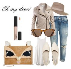 """""""Oh my deer."""" by amrinjo ❤ liked on Polyvore featuring Sans Souci, Topshop, ToyShades, RVCA, Betsey Johnson and NARS Cosmetics"""