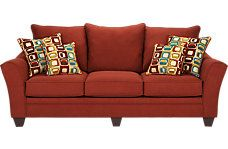Santa Monica Red Sofa ($599.99)