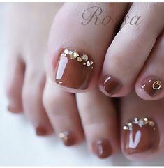 Beauty & Seem Beautiful Pedicure Designs, Toe Nail Designs, Nail Polish Designs, Acrylic Nail Designs, Toe Nail Color, Toe Nail Art, Nail Colors, Bling Nails, Swag Nails