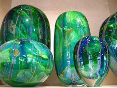 'Arrival of Spring' blown glass by Peter Layton