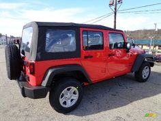 car wallpaper for 2013 Rock Lobster Red Jeep Wrangler - Car Wallpaper
