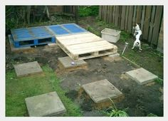 Simple pallett shed foundation