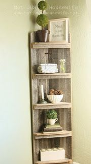 Pallet Project - Corner Stand Made From Pallets