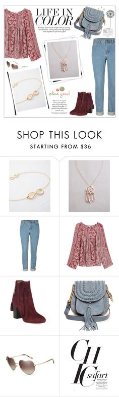 """""""Oliveyewjewelry"""" by water-polo ❤ liked on Polyvore featuring MANGO, Aquazzura, Disney, GALA, Chloé, Love, women's clothing, women's fashion, women and female"""