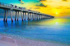 Navarre Fishing Pier Sunset - ©Eszra Tanner (via FineArtAmerica)