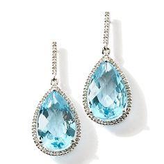 Rarities: Fine Jewelry with Carol Brodie Gemstone Sterling Silver Drop Earrings at HSN.com