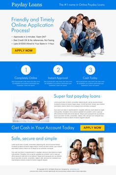 Best payday loan landing pages that converting in 2013 on Behance