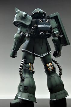 Mega Size 1/48 MS-06J Zaku II - Customized Build Modeled by Suny Buny CLICK HERE TO VIEW MORE IMAGES... Big Robots, Gundam Mobile Suit, Gundam Custom Build, Gunpla Custom, Gundam Model, Guys, Building, Model Kits, Sci Fi