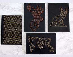 Urban Fox DIY: DIY: Geometric Embroidered Notebook