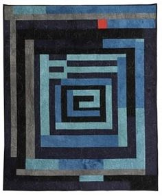 Love the colors and the one spark of red - another Gee's Bend quilt.