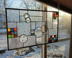 Facination Stained Glass Windows Panel Transom   eBay