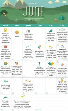 BrightNest | Your June Calendar for a Happy Healthy Home (Printable!)