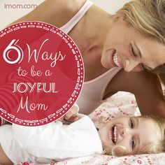Even though every moment can't be sunny and fun, do try to be a joyful mom as much as you can. Here's how to start! #momlife #joy