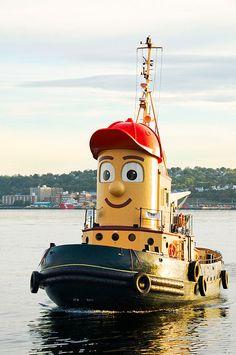 He's a tugboat and a friendly tugboat too, oh Theodore, Halifax, Nova Scotia America And Canada, North America, Acadia National Park, National Parks, Theodore Tugboat, Saint John New Brunswick, Titanic Museum, Tugboats, Old Boats