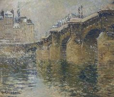 Pont Neuf in the Snow, 1922 by Gustave Loiseau (French, 1865–1935)