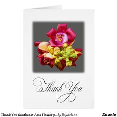 Thank You Southeast Asia Flower personalize