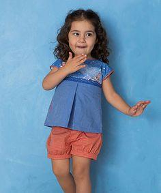 Look at this #zulilyfind! Blue Walrus & Lighthouse B Form Top - Infant, Toddler & Girls #zulilyfinds