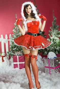 HOT New Red Sexy women christmas costumes dress ladies santa costume outfit  lingerie with bow + glove + Hat + UNDERWEAR on AliExpress.com. 5% off $22.79