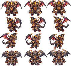 Rpg Maker Vx, Game 2d, Pixel Art Games, Graphics, Enemies, Monsters, Eyes, Craft, Blue Prints