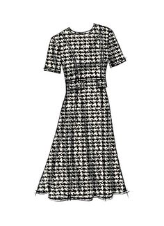 Buy Vogue Women's Dresses Sewing Pattern, from our Sewing Patterns range at John Lewis & Partners. Modelista, Vogue Sewing Patterns, African Print Dresses, Wool Dress, Fashion Sketches, Fashion Illustrations, Dress Me Up, Couture Fashion, Night Gown