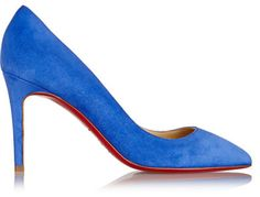 EXCLUSIVE TO NET-A-PORTER.COM. Christian Louboutin's iconic 'Pigalle' pumps are loved for their simple, chic and timeless silhouette. Expertly crafted in Italy, this bright-blue suede pair will punctuate any party look. Wear yours with everything from shirt dresses to tailored pants.