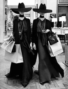 hexurbanity:  A pair of models leaving a hotel lobby on their way to a photoshoot during the 1992 Which Witch? fashion show in Paris This candid gained great publicity in magical society throughout all of Europe; quickly becoming one of the most famous pictures of the decade, and a globally recognized icon of french fashion.