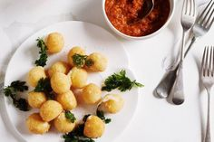 These crunchy golden-fried bocconcini balls are a sure-fire party nibble winner.