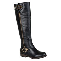 Women's Journee Collection Round Toe Buckle Detail Boots -