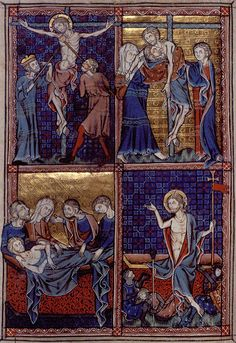One of five full-page miniatures of scenes from the life of Christ in the Barlow Psalter (c.1321-38), one of a group of early 14th-century Fenland MSS