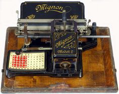 The Martin Howard Collection: Mignon 2 Antique Typewriter, Slide Rule, Vintage Phones, Vintage Office, Vintage Typewriters, Clever Design, Vintage Antiques, Writing, Vintage Ornaments