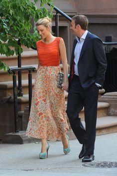 Blake Lively, puro estilo y 'glamour' en el set de rodaje de 'Gossip Girl' -