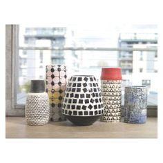 TRINA Black and white patterned ceramic vase
