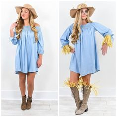 It's SCARE season & what is better than a pretty scarecrow?! Be the CUTEST character around at the party. Why not reinvent one of YOUR fave styles for Halloween?! Wear it on the 31st & out with your girls!! Be different. Be YOU. <3 #Halloween #Costumes #Style #Halloweencostumes #Halloweencostumeideas #ShopTFTS #Fashion #Scarecrow #LikeIT