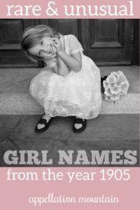 Gorgeous rare names for our daughters, straight out of 1905 ... but right at home today. #girlnames #babynames #namingbaby #appellationmountain Unusual Girl Names, Rare Names, Vintage Baby Names, Baby Girl Names, Daughters, Marvel, Sisters, Girls, Daughter