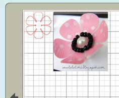 beaded flower - free cutting file #Silhouette #CutFile