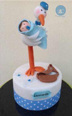 Stork cake topper