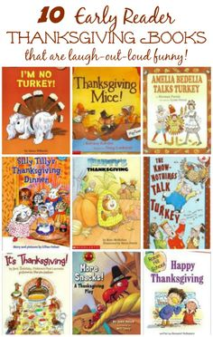 Kids will love these funny Thanksgiving books -- perfect for those who are just learning to read!