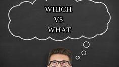 WHICH VS. WHAT: QUAL A DIFERENÇA? - AULA DE INGLÊS