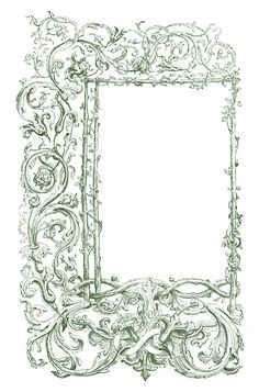 Vintage Clip Art - Faux Bois Frames with Scrolls - The Graphics Fairy
