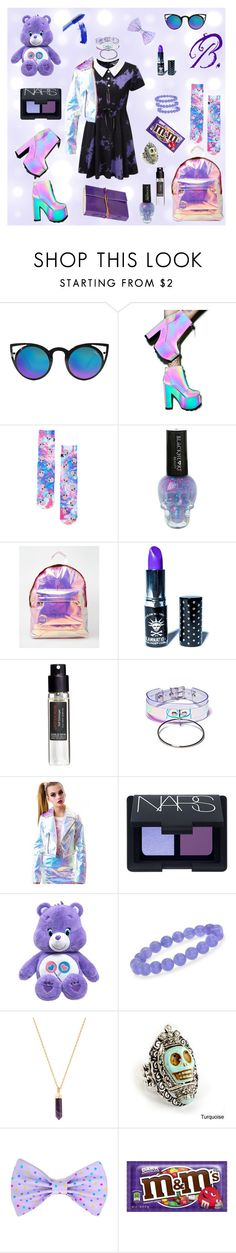 """B. Outfit #4 ddlg"" by princessbabydolly ❤ liked on Polyvore featuring Quay, Y.R.U., Manic Panic, Mi-Pac, Frédéric Malle, Apatico, NARS Cosmetics, Ross-Simons, Torchlight and Sweet Romance"