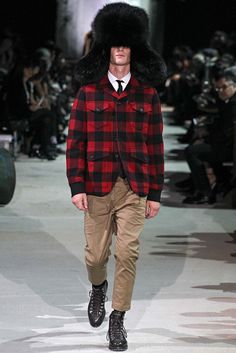 Dsquared2 Fall / Winter 2015 - Man with Fur Hat